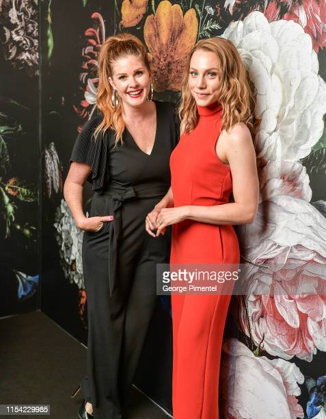 Lindsey Deluce and Kelsey McEwen pose at the CTV Upfront Portrait Studio at Sony Centre For Performing Arts on June 06, 2019 in Toronto, Canada.