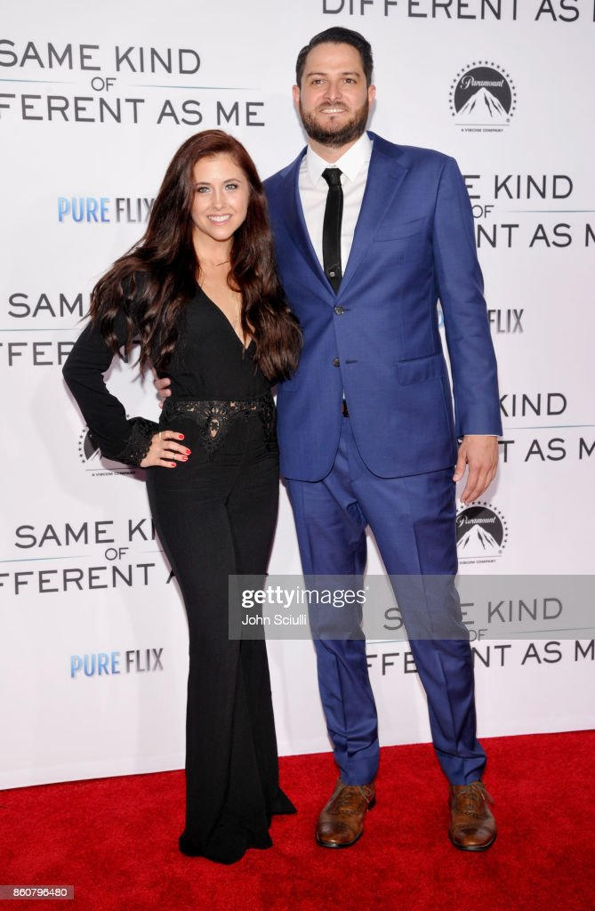 Lindsey Foard and Screenwritter Alex Foard attend Same Kind Of Different As Me Premiere on October 12, 2017 in Los Angeles, California.