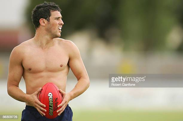 Lindsey Gilbee of the Bulldogs in action during the Western Bulldogs pre season training session at Whitten Oval on December 1 2005 in Melbourne...