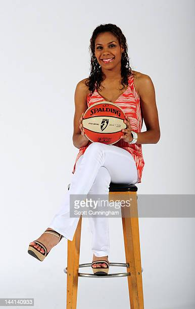 Lindsey Harding of the Atlanta Dream poses during WNBA Media Day at Philips Arena on May 9 2012 in Atlanta Georgia NOTE TO USER User expressly...