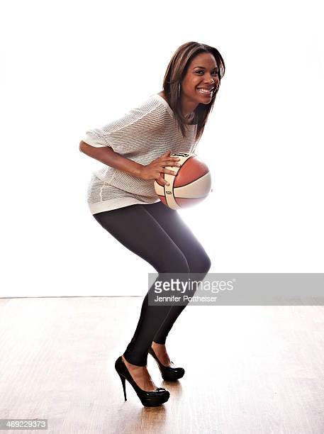 Lindsey Harding of the Los Angeles Sparks poses for portraits during the NBAE Circuit as part of 2014 AllStar Weekend at the Hyatt Regency Hotel on...