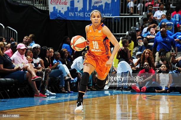 Lindsey Harding of the Phoenix Mercury handles the ball against the Atlanta Dream on July 3 2016 at Philips Arena in Atlanta Georgia NOTE TO USER...