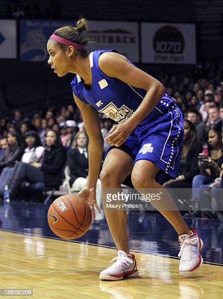 Lindsey Harding takes part in Gridiron Celebrity Hoops XIV at Hinkle Fieldhouse on February 4 2012 in Indianapolis Indiana