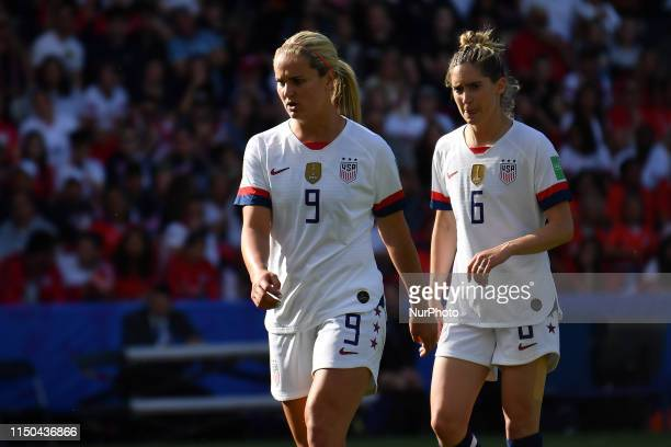 Lindsey HORAN and Morgan BRIAN at the 2019 World cup in France in Parc des Princes in Paris