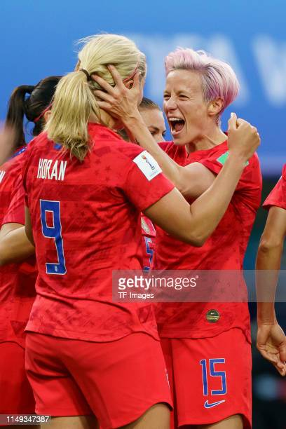 Lindsey Horan of United States of America celebrates after scoring her team's second goal with team mates during the 2019 FIFA Women's World Cup...