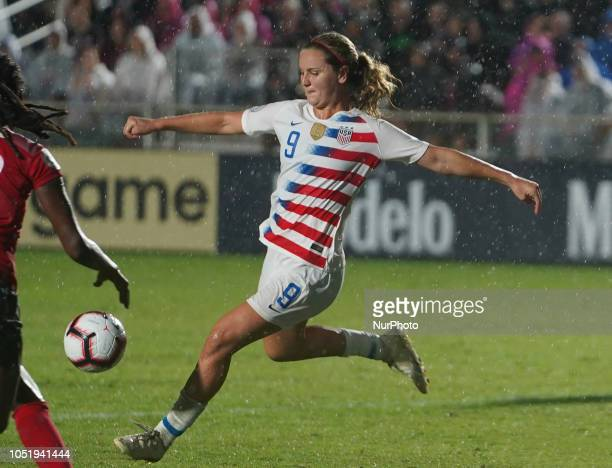CARY NC OCTOBER Lindsey Horan of USA During CONCACAF Women's Championship Group A match between Trinidad and Tobago against USA at Sahlen's Stadium...