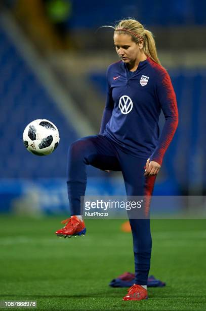 Lindsey Horan of USA during the friendly match between Spain and USA at Rico Perez Stadium in Alicante Spain on January 22 2019