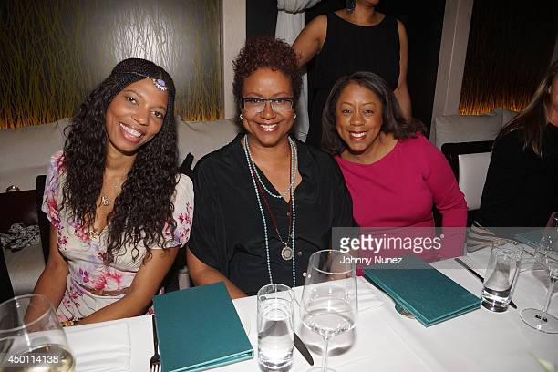 Lindsey Huggins Harriette Cole and Michelle Gadsen Williams attend the Anguilla Tranquility Wrapped In Blue Dinner at Nerai on June 4 2014 in New...