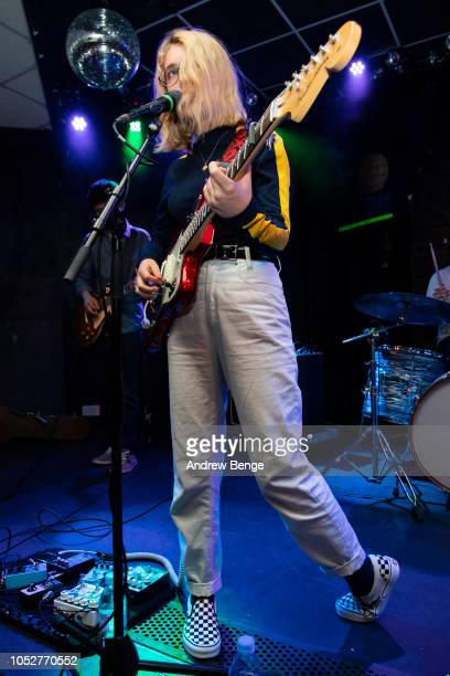 Lindsey Jordan of Snail Mail performs live at Brudenell Social Club on October 22, 2018 in Leeds, England.