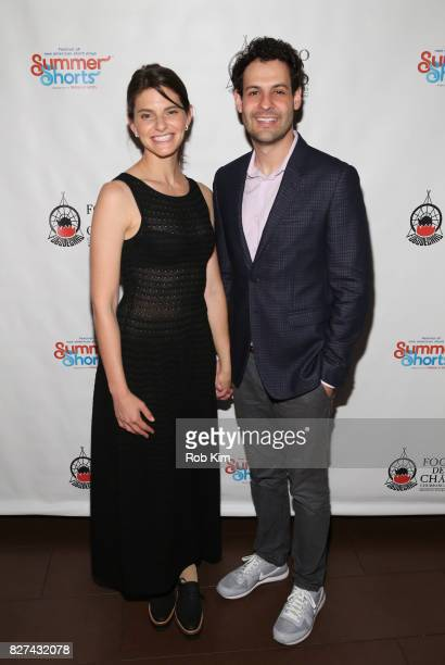 Lindsey Kraft and Andrew Leeds attend the OffBroadway opening night party for SUMMER SHORTS 2017 at Fogo de Chao Churrascaria on August 7 2017 in New...
