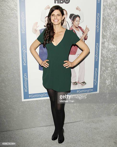 Lindsey Kraft arrives at the Los Angeles Premiere of HBO's Getting On held at Avalon on October 28 2014 in Hollywood California