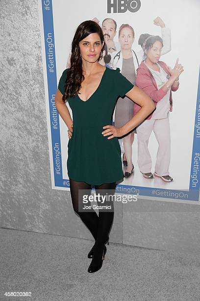 Lindsey Kraft attends HBO's Getting On Los Angeles Premiere at Avalon on October 28 2014 in Hollywood California