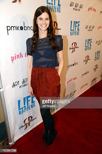 Lindsey Kraft attends the Los Angeles premiere of Lfe Happens at AMC Century City 15 theater on April 2 2012 in Century City California
