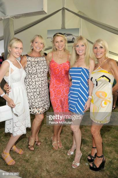 Lindsey Kremer Suzan Kremer Jacqueline Murphy Colleen Rein and Andrea WarshawWernick attend MercedesBenz Polo Challenge Opening Weekend at Blue Star...
