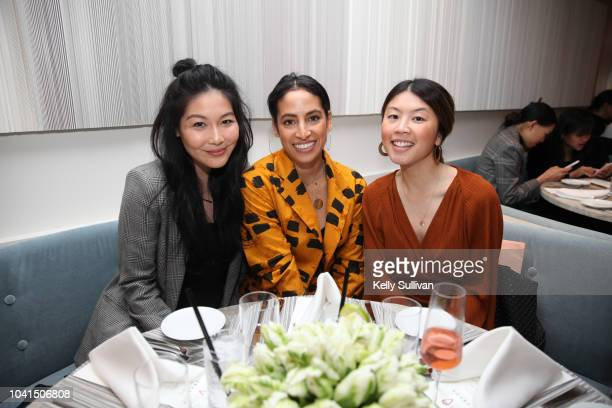 Lindsey Louie Carlina Harris and Julie Chin pose for a photo at the opening of Freds at Barneys New York San Francisco on September 26 2018 in San...