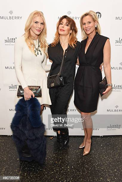 Lindsey Love Lauren Prakke and Tia Graham attend the London Burning Launch Event at The ICA supported by Mulberry at the ICA on September 30 2015 in...