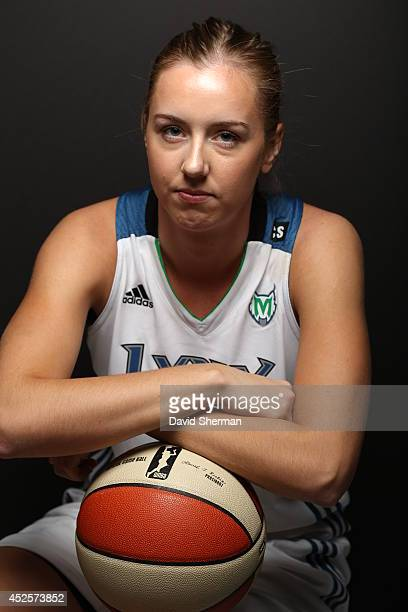 Lindsey Moore of the Minnesota Lynx poses for a portrait during 2013 Media Day on May 16 2013 at the Minnesota Timberwolves and Lynx LifeTime Fitness...