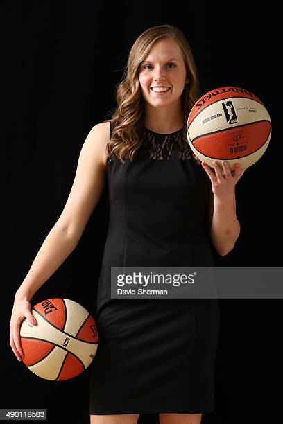Lindsey Moore of the Minnesota Lynx poses for portraits during 2014 Media Day on May 12 2014 at the Minnesota Timberwolves and Lynx LifeTime Fitness...