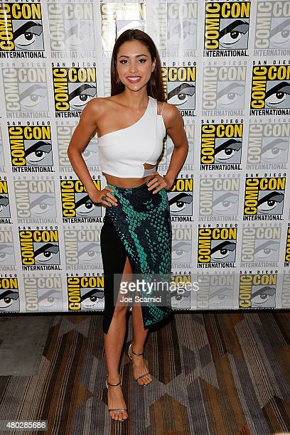Lindsey Morgan attends 'The 100' press room at ComicCon International 2015 Day 2 at the San Diego Convention Center on July 10 2015 in San Diego...