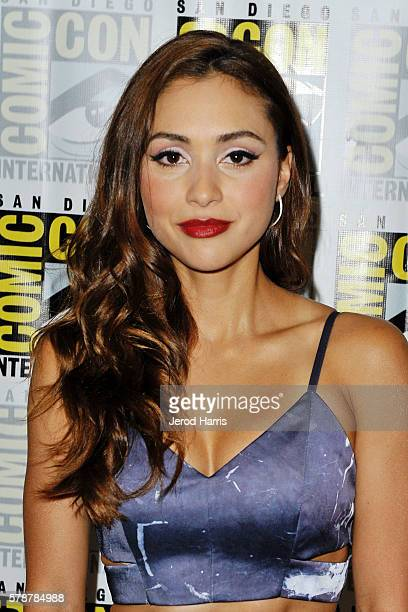 Lindsey Morgan attends the media panel for 'The 100' at ComicCon International on July 22 2016 in San Diego California