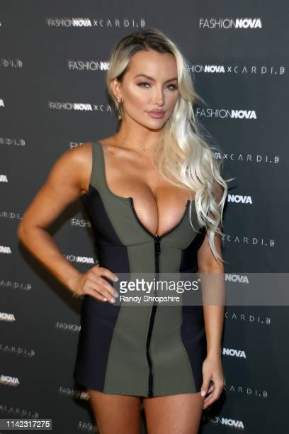 Lindsey Pelas arrives as Fashion Nova Presents Party With Cardi at Hollywood Palladium on May 8 2019 in Los Angeles California