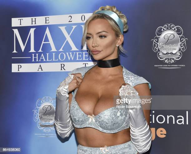 Lindsey Pelas arrives at the 2017 MAXIM Halloween Party at LA Center Studios on October 21, 2017 in Los Angeles, California.