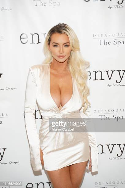Lindsey Pelas attends the Envy By Melissa Gorga Fashion Show on May 03, 2019 in Hawthorne, New Jersey.
