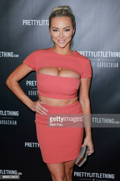 Lindsey Pelas attends the launch of PrettyLittleThing by Kourtney Kardashian at Poppy on October 25 2017 in Los Angeles California