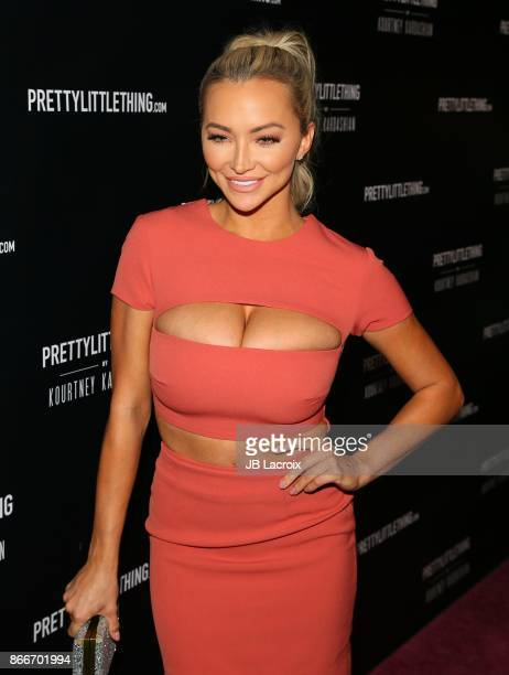 Lindsey Pelas attends the PrettyLittleThing By Kourtney Kardashian Launch on October 25 2017 in Los Angeles California