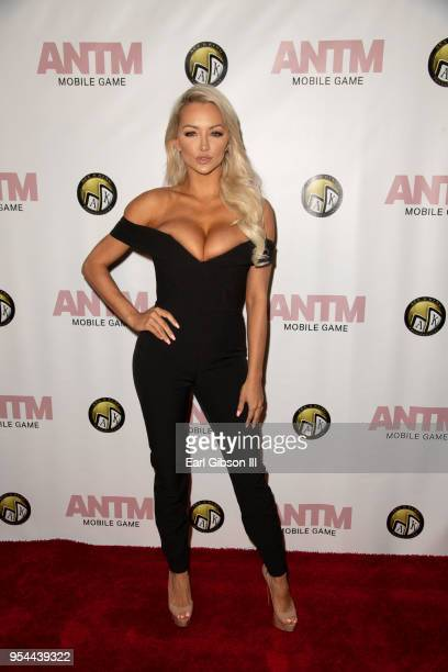 Lindsey Pelas attends the Tyra Banks And Ace King Productions Celebrate The Release Of The 'America's Next Top Model' Mobile Game at Avalon on May 3...