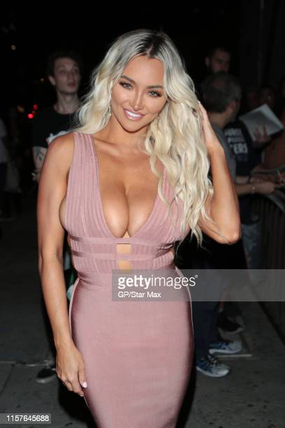 Lindsey Pelas is seen on July 24 2019 in Los Angeles