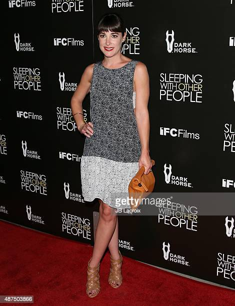 Lindsey Sloane attends the premiere of IFC Films' 'Sleeping with other people' held at ArcLight Cinemas on September 9 2015 in Hollywood California