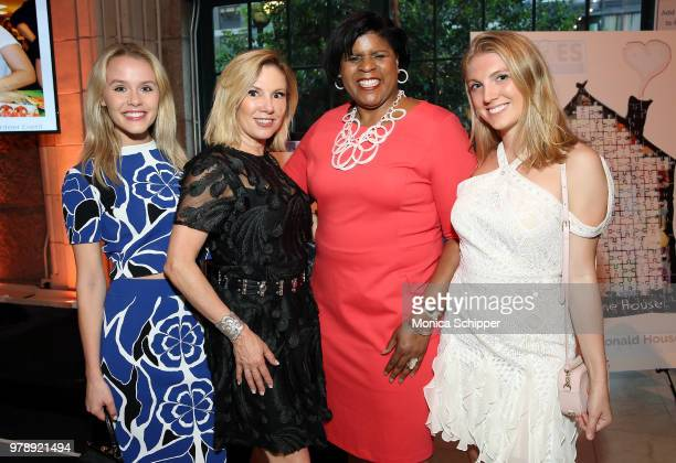 Lindsey Spohler Ramona Singer Dr Ruth Browne and Avery Singer attend the Ronald McDonald House New York Heroes Volunteer Event on June 19 2018 in New...