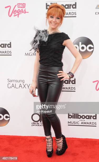 Lindsey Stirling arrives at the 2014 Billboard Music Awards at the MGM Grand Hotel and Casino on May 18 2014 in Las Vegas Nevada