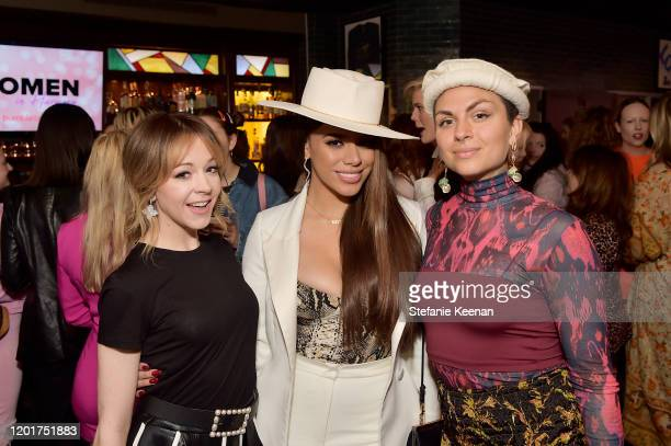 Lindsey Stirling Dinah Jane and Jahan Yousaf attend the 3rd Annual Women in Harmony PreGrammy Luncheon with Host Bebe Rexha on January 24 2020 in Los...
