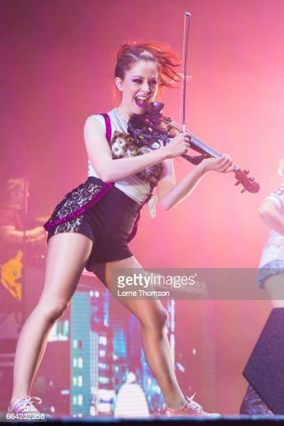 Lindsey Stirling performs at Eventim Apollo on April 3 2017 in London United Kingdom
