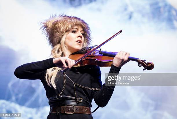 Lindsey Stirling performs at the PowerfulU Experience LA 2019 at Los Angeles Convention Center on May 19 2019 in Los Angeles California