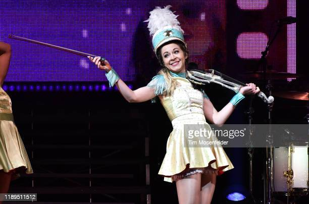 Lindsey Stirling performs during her Warmer in the Winter tour at San Jose Civic Center on November 22 2019 in San Jose California