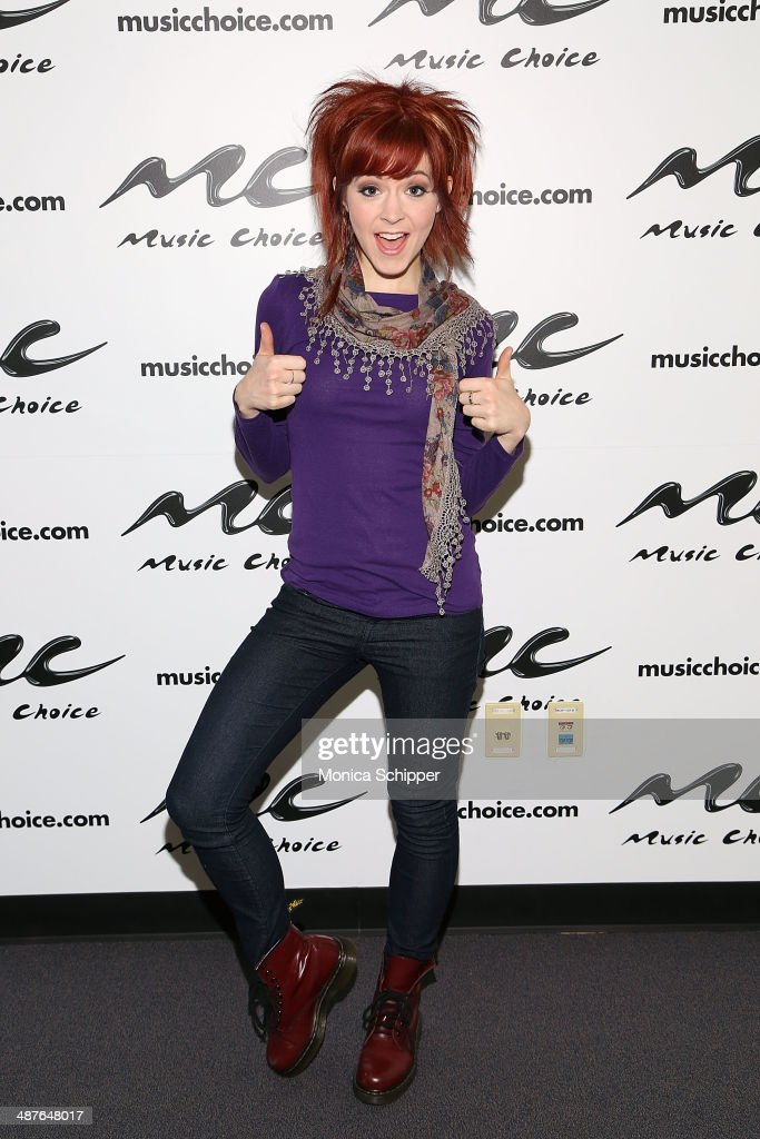 Lindsey Stirling visits 'You & A' at Music Choice on May 1, 2014 in New York City.