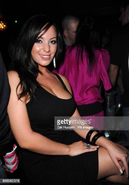 Lindsey Strutt pictured during the Nuts Magazine Covers Party at Vendome in central London