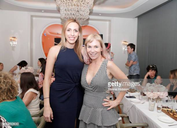 Lindsey Taylor Wood and Marti Noxon attend an intimate luncheon with Joy Nash Marti Noxon and Aisha Tyler hosted by AMC in Celebration of Their New...