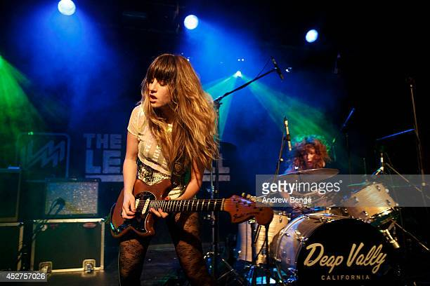 Lindsey Troy and Julie Edwards of Deap Vally perform on stage at Tramlines Festival at The Leadmill on July 26 2014 in Sheffield United Kingdom