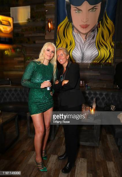 Lindsey Vonn and Anita Elberse attend Red Bull's Celebration of Lindsey Vonn at Liaison Restaurant on July 09 2019 in Los Angeles California