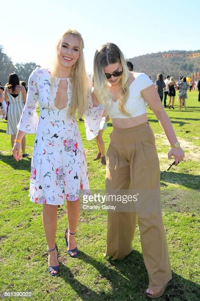 Lindsey Vonn and Karin Kildow at the Eighth Annual Veuve Clicquot Polo Classic on October 14 2017 in Los Angeles California