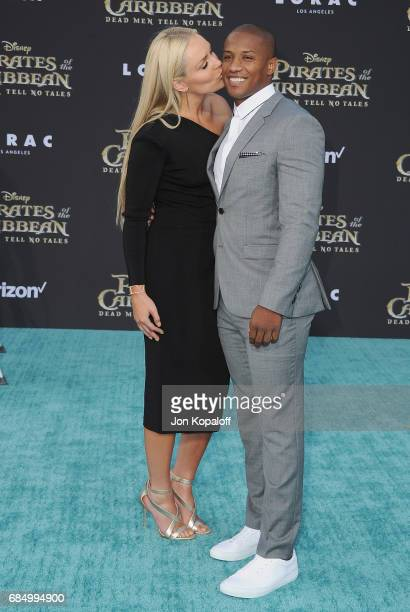 Lindsey Vonn and Kenan Smith arrive at the Los Angeles Premiere 'Pirates Of The Caribbean Dead Men Tell No Tales' at Dolby Theatre on May 18 2017 in...