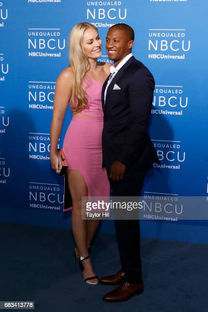 Lindsey Vonn and Kenan Smith attend the 2017 NBCUniversal Upfront at Radio City Music Hall on May 15 2017 in New York City