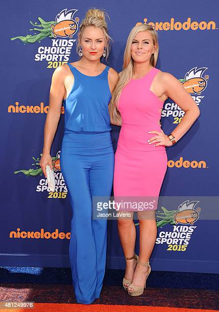 Lindsey Vonn and sister Karin Kildow attend the Nickelodeon Kids' Choice Sports Awards at UCLA's Pauley Pavilion on July 16 2015 in Westwood...