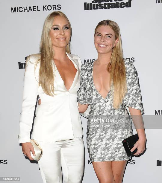 Lindsey Vonn and sister Karin Kildow attend the Sports Illustrated Fashionable 50 event at Avenue on July 18 2017 in Los Angeles California