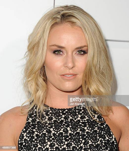 Lindsey Vonn arrives at Audi Celebrates Emmys Week 2015 at Cecconi's on September 17 2015 in West Hollywood California