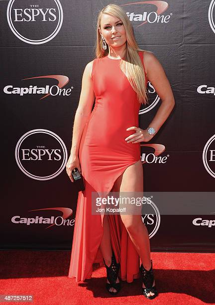 Lindsey Vonn arrives at The 2015 ESPYS at Microsoft Theater on July 15 2015 in Los Angeles California